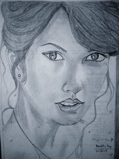 Draw beautiful sketch and drawing by Anushkaray sketching and drawing - Sketch Drawing Drawing Sketches, Pencil Drawings, Sketching, Drawing Drawing, Woman Sketch, Woman Drawing, Drawing Women, Girl Sketch, Taylor Swift Drawing