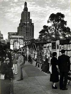 artists and poets, washington square, 1939.