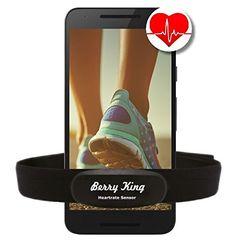 BLUETOOTH 4.0 und ANT+ BRUSTGURT f�r RUNTASTIC, WAHOO, STRAVA App, f�r iPhone 4S/5/5C/5S/6/6S/6+ Android - BerryKing Premium Herzfrequenz Messer / Sensor ANT+ & Bluetooth 4.0 f�r Garmin, TomTom, iPhone, Android Heartbeat