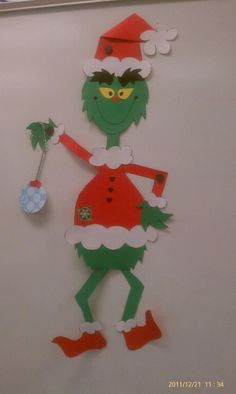 "We had a ""Grinch Day"" and we got to make our very own Grinch!"