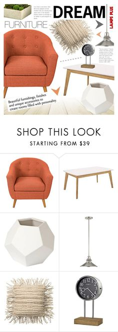 """Dream Furniture"" by pokadoll ❤ liked on Polyvore featuring interior, interiors, interior design, home, home decor, interior decorating, Universal Lighting and Decor, Kichler, Howard Miller and modern"