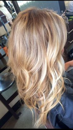💛Blonde Multidimensional Color Warm Toned Golden Shades, Beige Dirty Blonde Lowlights, Platinum Tips Frosted Face Framing Highlights💛