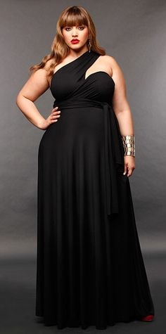Black dresses for weddings plus sizes