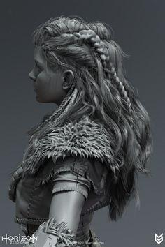 ArtStation - Horizon Zero Dawn - Hair, Johan Lithvall