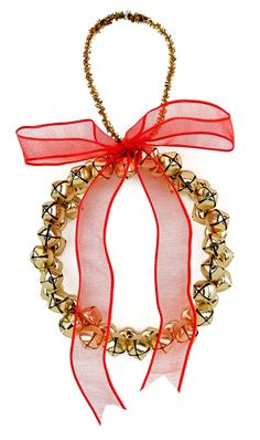 Nicole™ Crafts Bell Wreath Ornament #christmas #kids #craft