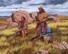 Chief of Scouts oil on canvas by stephen lang