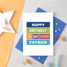 41d97b00 Stepdad Birthday Card For Stepfather | Father in Law | Other Father |  Foster Father