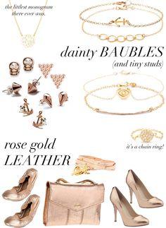 rosegold+dainty
