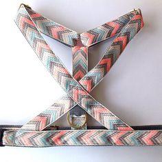 Dog harness: No choke Small X Large dog harness Pink blue