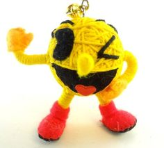 Pac-Man Videogame Voodoo String Doll Keychain Ornament @ niftywarehouse.com #NiftyWarehouse #PacMan #VideoGames #Pac-man #Arcade #Classic