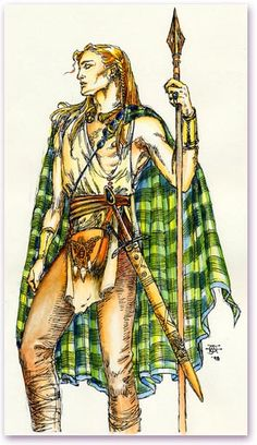 "Lugh, the Celtic God version of a ""jack of all trades"" or the golden child of the Gods. He is a druid, carpenter, poet and mason and as such looks favorably over any and all aspects of these professions. The harvest celebration, Lughnasadh, is named in his honor."