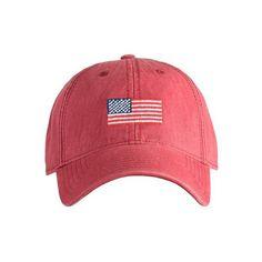 2c554385e7c Harding Lane Needlepoint Hat - American Flag Hat - Red