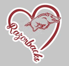 I Heart Razorbacks, window decal, Arkansas, Go Hogs, college, football by EAPersonalizedGifts on Etsy https://www.etsy.com/listing/257324559/i-heart-razorbacks-window-decal-arkansas