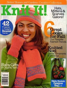 BHG Knit It Knitting Patterns Boho Coat Cat Bordhi Felted Bag Baby Gift Hat 2006 #BetterHomesGardens