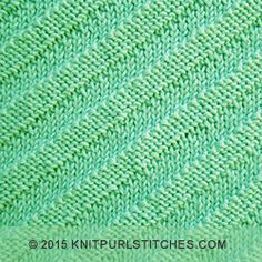 Diagonal textured pattern | Simple knit and purl combinations