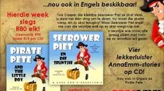 Seerower Piet is een van ons lekkerste stories! 'n seuntjie wie maar alte graag saam met hom op 'n avontuur wil gaan! English Story, R80, Listening Skills, Stories For Kids, Little Boys, Baseball Cards, Adventure, Children, Afrikaans