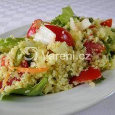 Fotografie receptu: Salát z kuskusu a zeleniny Grains, Tacos, Ethnic Recipes, Food, Meals, Yemek, Eten