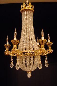 Crescente Miniatures - Chandeliers I like this light fixture very chic!