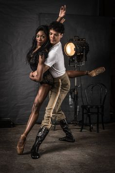 Joburg Ballet's Claudia Monja Guedes & Leusson Muniz - Photo by Lauge Sorensen