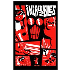 The Incredibles: Mural - Officially Licensed Disney Removable Wall Adhesive Decal Giant (31.2