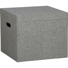 grey felt boxes - CB2 - these are great for play room or kids rooms for storage. they look really nice and clean cut too!