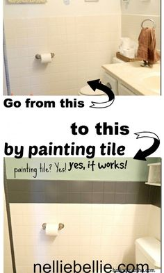 Did you know you can paint tile? A tutorial with the kinds of paint to use. One of which is simple all-purpose craft paint!