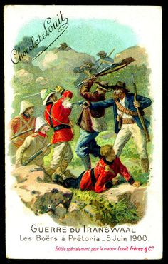 """Chocolate Louit """"The Transvaal War"""" Boer War) The Boers at Pretoria June 1900 Pretoria, British Colonial, Toy Soldiers, British Army, Egyptian, South Africa, Cigarette Box, African, War"""