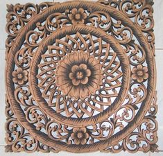 thai wood carving