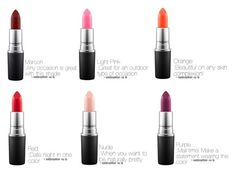 """Lipstick guide"" by majesticdreams on Polyvore featuring beauty and MAC Cosmetics"