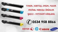 Toner, Kartuş, Drum, Fuser Orjinal Markalı Ürünler Yazıcı - Fotokopi Kiralama / Satışı 0534 958 88 66