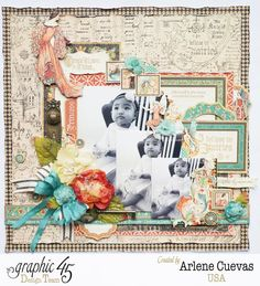 Layout, Enchanted Forest, Arlene Cuevas, Tutorial May Arts Blog Hop, Product by Graphic 45