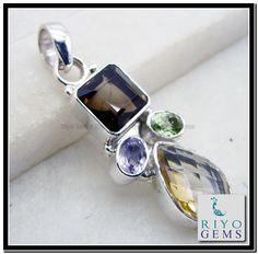 925 Sterling silver gemstone pendant by Riyo Gems www.riyogems.com