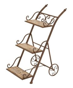 Love this Wood & Iron Plant Stand by UMA Enterprises on #zulily! #zulilyfinds