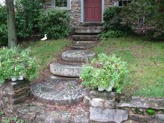 old millstone steps