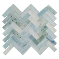 SKU: 100155092 Size: 12in. x 12in.  Poseidon Herringbone Glass Mosaic - 12in. x 12in. | Floor and Decor
