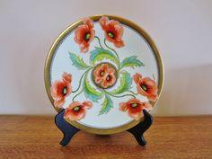 Art Nouveau Poppy Hand Painted Decorative Plate