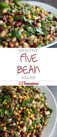 Healthy 5-Bean Salad | Packed full of minerals and fiber, this cholesterol-lowering salad is sure to become a family favorite.
