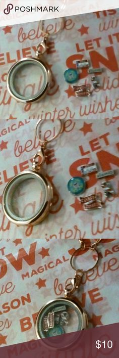 Coast Guard Living Memory Locket Brand New. Rose gold color. Hats off to our Military......Ty Coast Guard!! Jewelry Necklaces