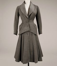 Wool and silk suit, 1948  by dovima_is_devine_II, via Flickr