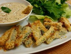 Gebackene Zucchini Sticks Rezept {flowers on my plate}