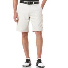 Ben Hogan Men's Performance Solid Flat Front Shorts, Size: 40, Silver