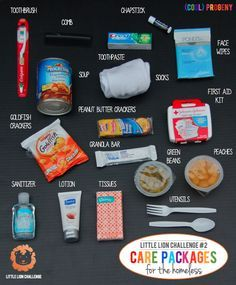 homeless care package - To give to people during christmas/ thanksgiving time