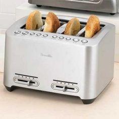 Breville® Die-Cast 4-Slice 'Smart Toast' - Sears | Sears Canada Canada Shopping, Small Kitchen Appliances, Toaster, Online Furniture, Diecast, Wonderland, Sandwich Toaster