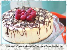 Sinfully Delicious New York Cheesecake with Chocolate Ganache Drizzle Recipe