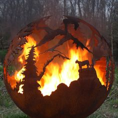 High Mountain Fire Pit Custom Outdoor Hand by TheFirePitGallery