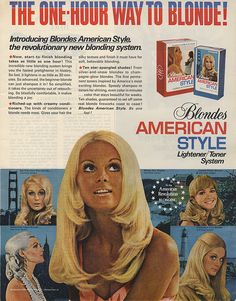 1960s hair color. ADSAUSAGE - vintage advertising library.
