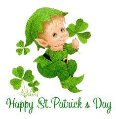 Happy St. Patrick's Day green gif clover elf st patricks day