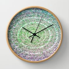 Green Dot Wall Clock by Dood_L - $30.00