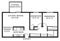 Small Two Bedroom Apartment Floor Plans