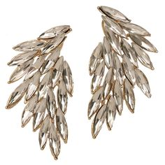 Luxe Wing Crystal Earrings by: t+j Designs